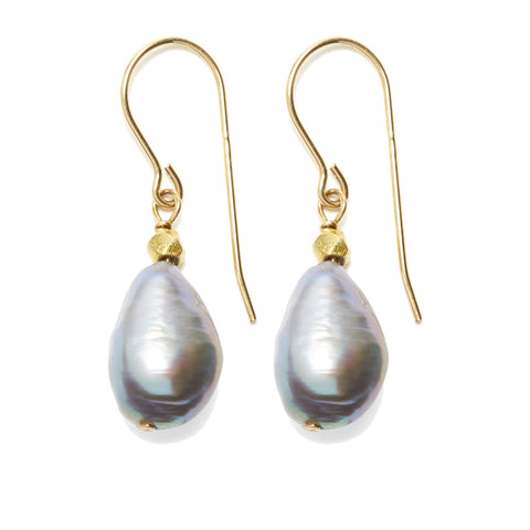 Sofie Earrings - gold/grey