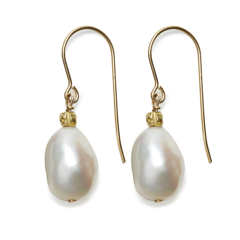 Sofie Earrings - gold/white