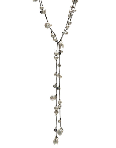 Sofie Lariat - grey/black