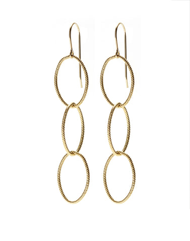 Triple Earrings - gold