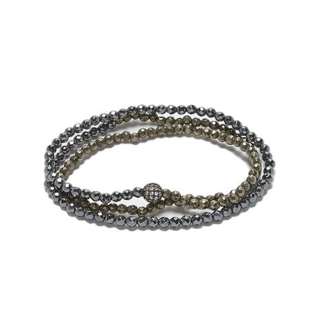 Triple Wrap - hematite/pyrite