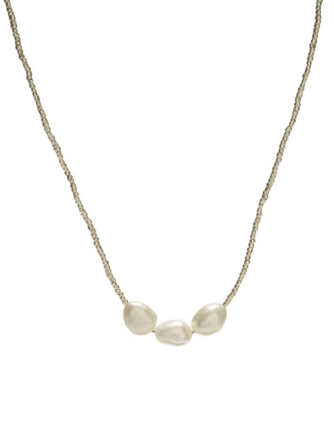 Vera short Necklace - white/pearl