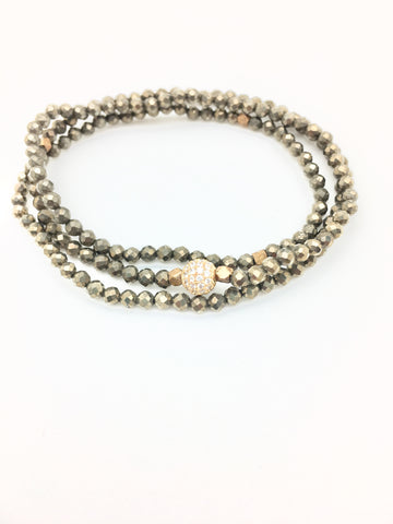 Triple Wrap - pyrite