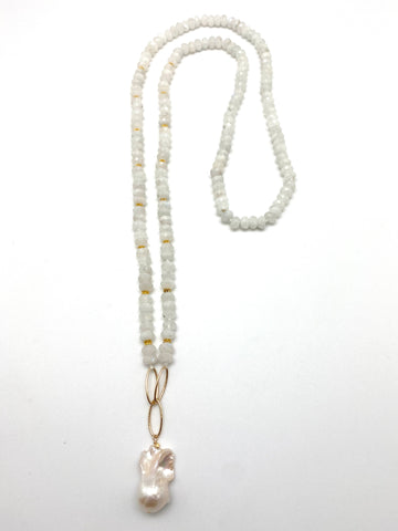 Veronica necklace - white moonstone
