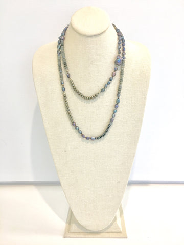 Ulrika necklace - labradorite
