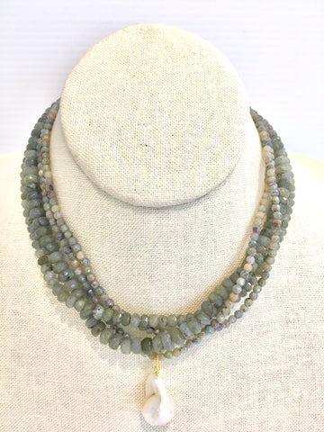 Karin necklace, labradorite
