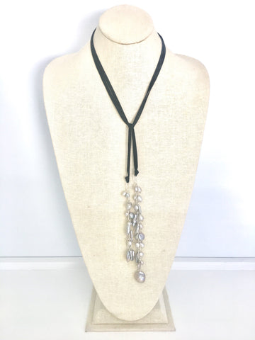 Astrid Lariat - grey/black