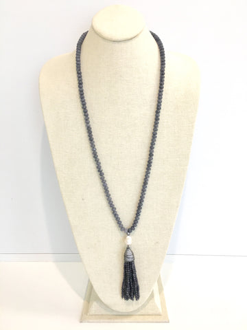 Madeleine Necklace - blue agate