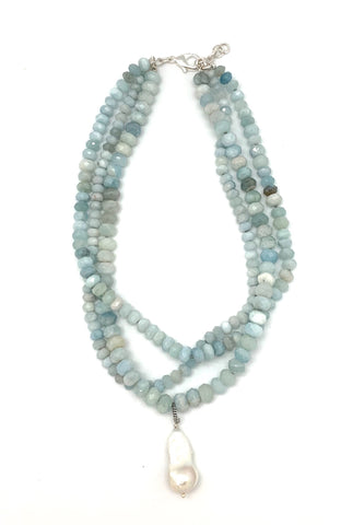 Karin necklace, aquamarine