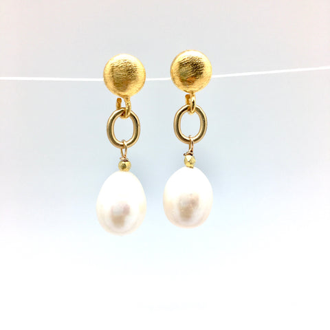 Malin earring - short/gold