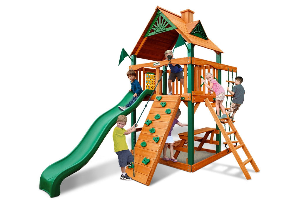 Chateau Tower Swing Set with Timber Shield™
