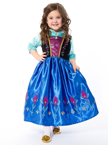 Satin Scandinavain Princess Costume