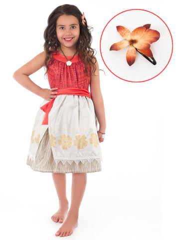 Polynesian Princess with Hair Clip Costume