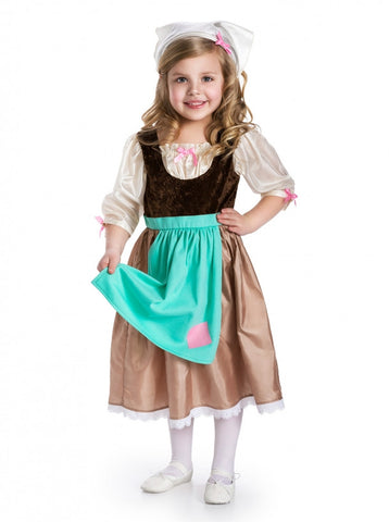 Cinderella Day Dress with Head Scarf Costume