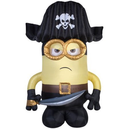 Minion Pirate Inflatable 9'