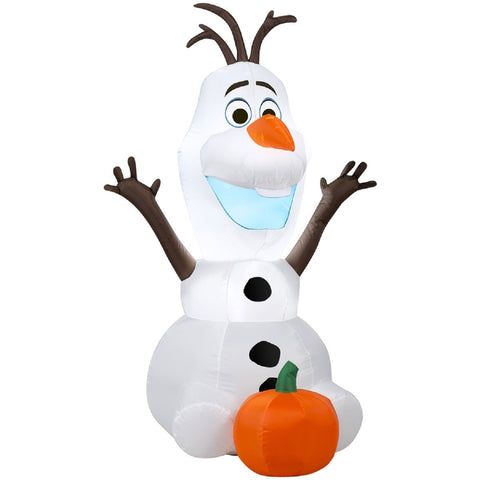 Disney's Olaf With Pumpkin Inflatable