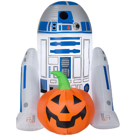 Star Wars R2D2 With Pumpkin Inflatable