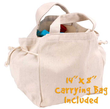 Wooden Block Set with Carrying Bag