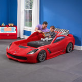 Corvette Z06 Toddler to Twin Bed with Lights