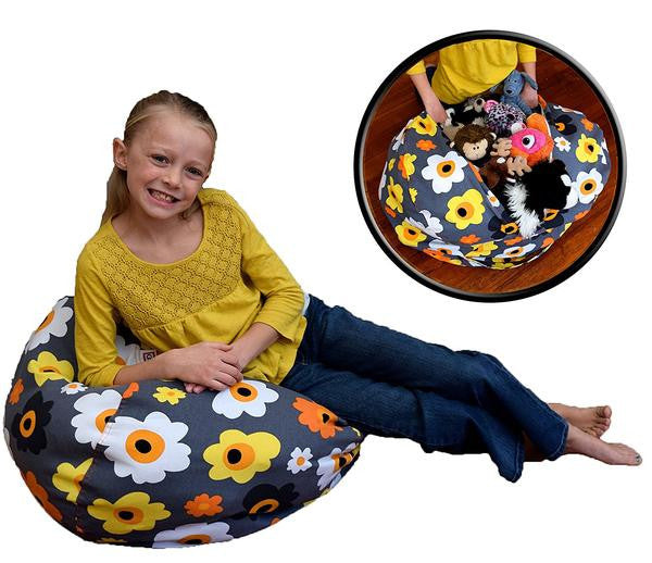 No Beans About it Stuffed Animal Storage Beanbag Chair