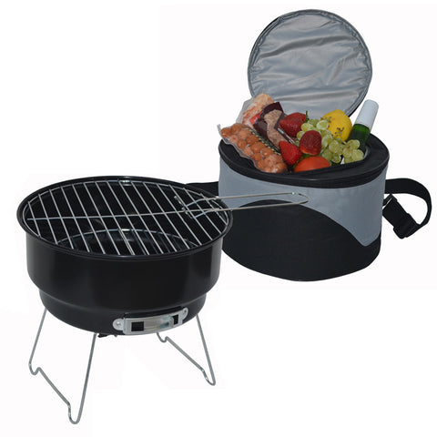 BBQ Grill and Cooler Combo Set