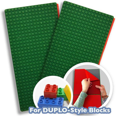 Peel-and-Stick LEGO® DUPLO® Compatible Baseplates