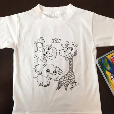 Personalized Washable Kid's T-Shirt + 3 FREE Washable Markers