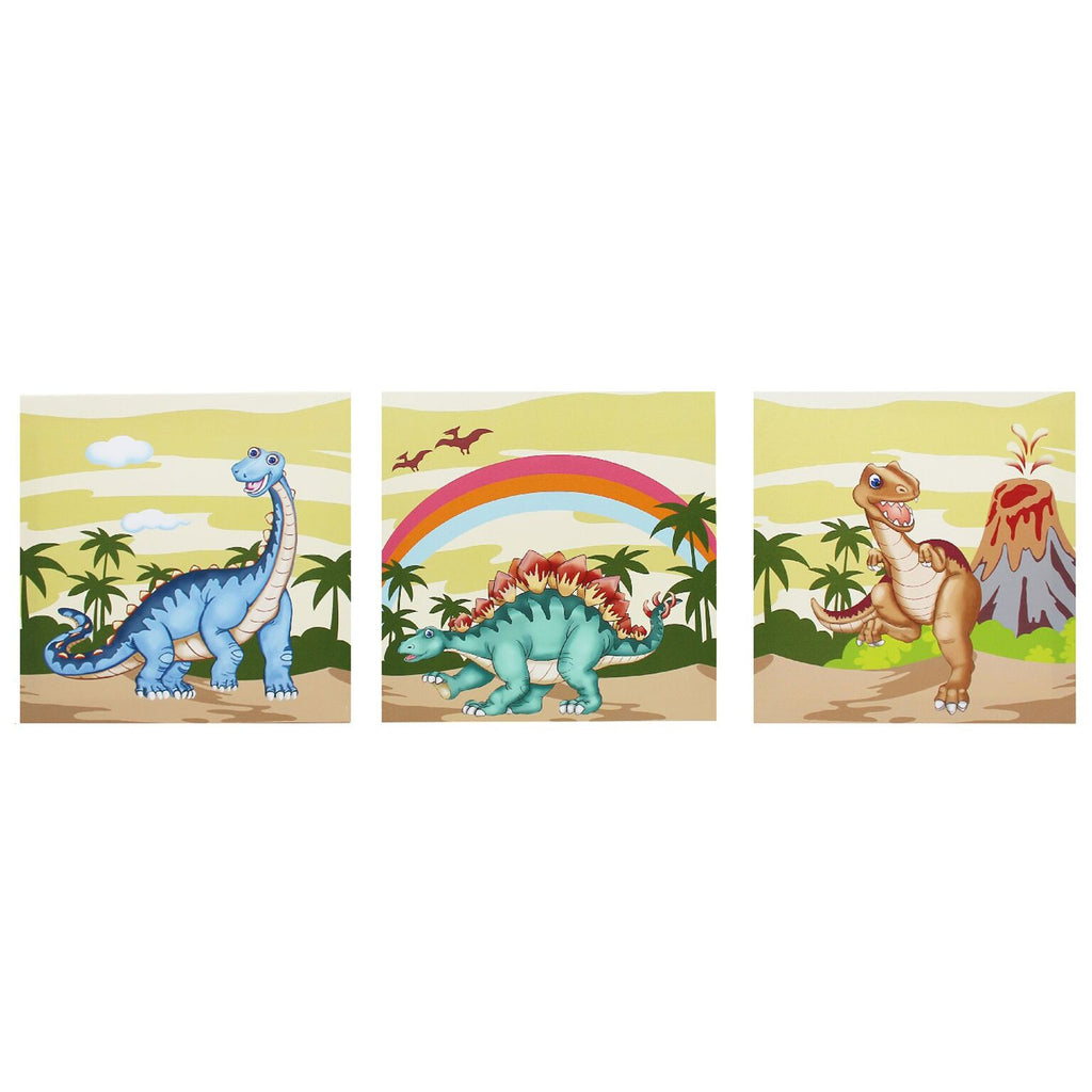 Dinosaur Kingdom Canvas Wall Art Set
