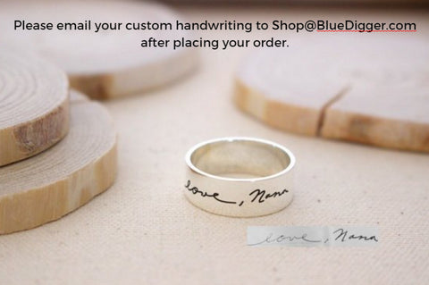 Personalized Handwriting Ring