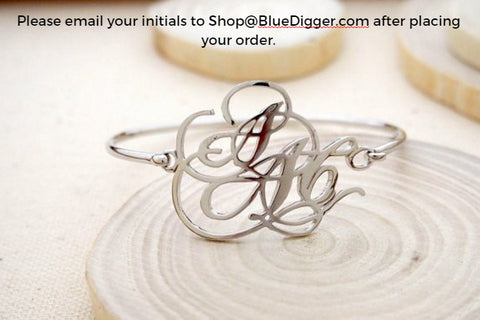 Personalized Monogram Bangle