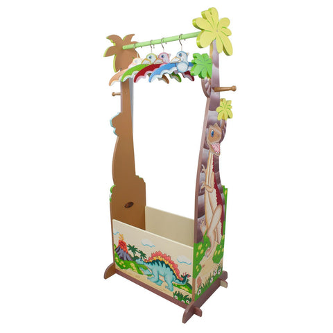 Dinosaur Kingdom Dress Up Valet Rack With 4 Hangers