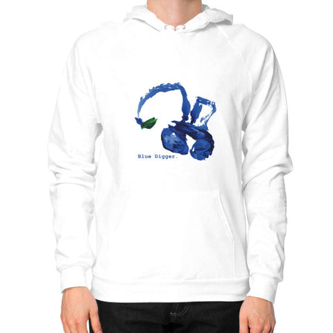 Blue Digger Hoodie - Man White Blue Digger