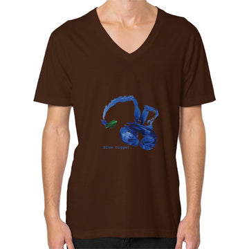 Blue Digger V-Neck - Man Brown Blue Digger