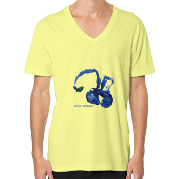 Blue Digger V-Neck - Man Lemon Blue Digger