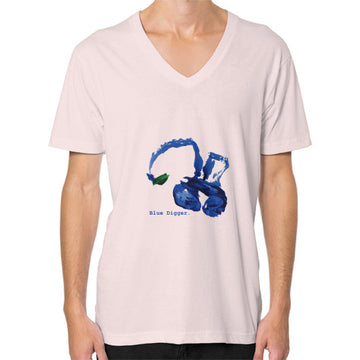Blue Digger V-Neck - Man Light pink Blue Digger