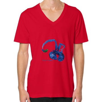 Blue Digger V-Neck - Man Red Blue Digger