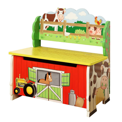 Happy Farm Storage Bench