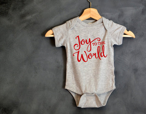 Joy to the World Baby Onesie