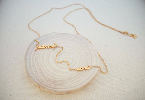 Personalized 2 Name Necklace