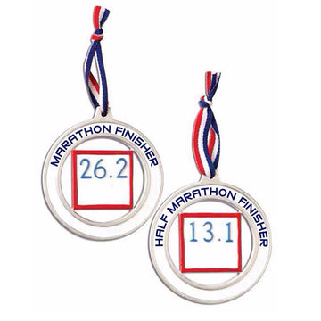 Personalized Christmas Ornament Half-Marathon Runner
