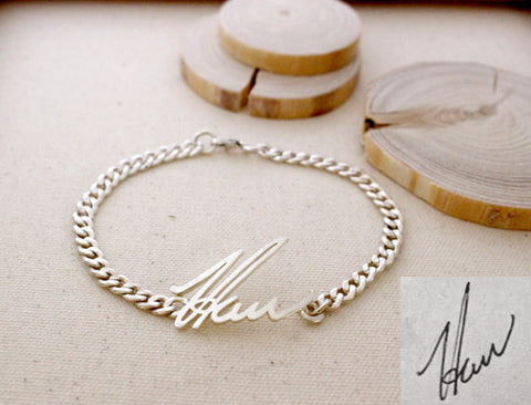 Personalized Handwriting Men's Signature Bracelet