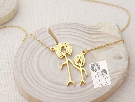 Personalized Drawing Necklace