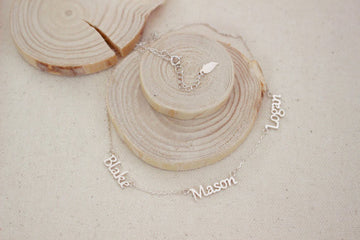 Personalized 3 Name Necklace