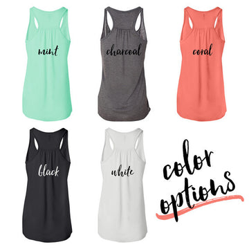 Muscles and Mascara Flowy Racerback Workout Tank Top