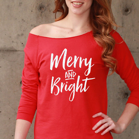 Merry & Bright Christmas Shirt