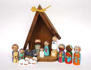 Wooden Christmas Nativity Set
