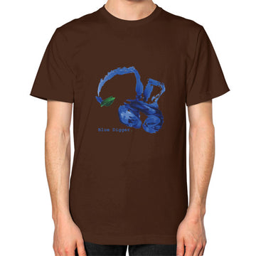 Unisex Blue Digger T-Shirt - Mens Brown Blue Digger