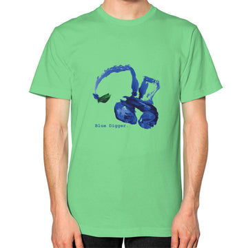 Unisex Blue Digger T-Shirt - Mens Grass Blue Digger