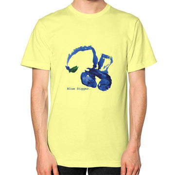 Unisex Blue Digger T-Shirt - Mens Lemon Blue Digger