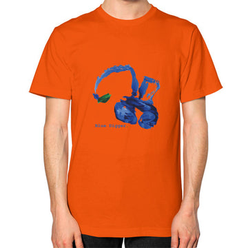 Unisex Blue Digger T-Shirt - Mens Orange Blue Digger